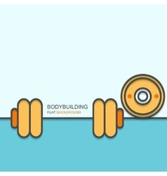 modern outline flat design of bodybuilding vector image