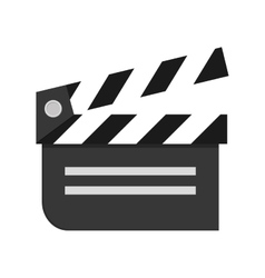 Movie clapperboard icon vector