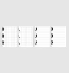 notebook set with shadow on grey background vector image