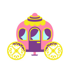 Princess party carriage poster vector