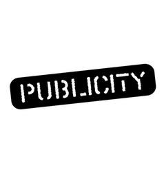 Publicity black stamp vector