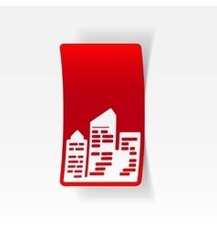 Realistic design element city skyscrapers vector