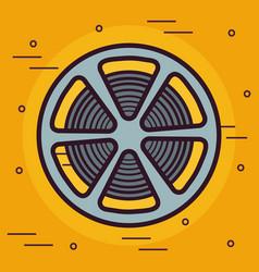 Reel tape icon vector
