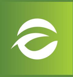 round green abstract logo vector image