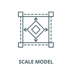 scale model line icon linear concept vector image