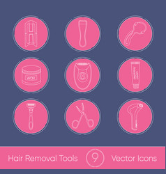 Set of hair removal tools vector