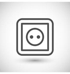Socket line icon vector
