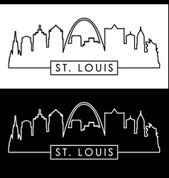 st louis skyline vector image