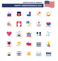 Stock icon pack american day 25 flat signs and vector