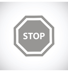 Stop black icon vector