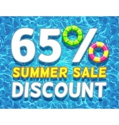 Summer sale and discount poster vector image