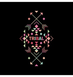 Tribal logo with geometric shapes vector image