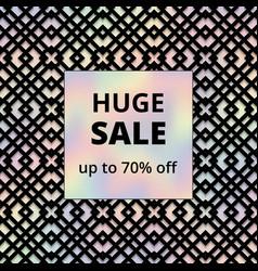 Vintage holographic sale banner vector