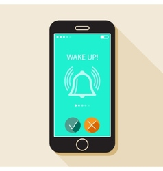 with a mobile phone Gadget in flat style with a vector image