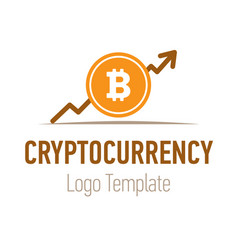 Crypto currency or bitcoin logo design flat trend vector