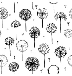 Dandelions seamless pattern for your design vector image vector image