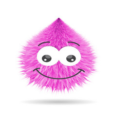 luffy pompom fur ball isolated face vector image vector image