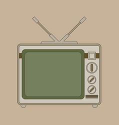 Retro looking television flat vector