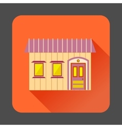 Retro style home icon flat style vector image