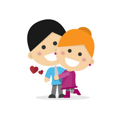 cute couple in love on a white background vector image
