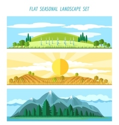 Nature landscape banners vector image vector image