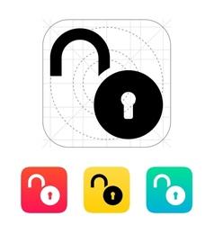 Padlock open icon vector image vector image