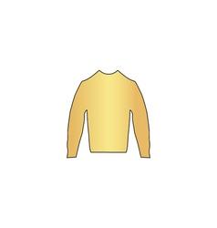 sweater computer symbol vector image
