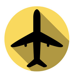 airplane sign flat black vector image