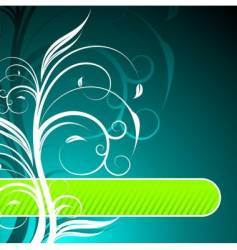 floral background with text space vector image vector image