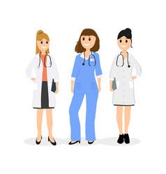 group of women doctors vector image vector image