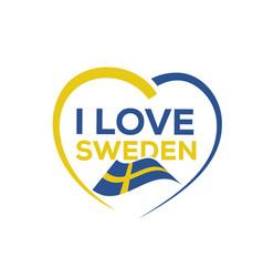 i love sweden vector image