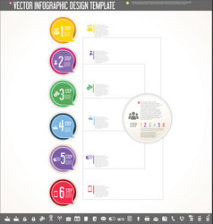 Infographic design template colorful design 3 vector