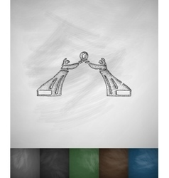Monument of the three charters icon Hand drawn vector image