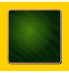 Old Blank Green School Chalkboard vector image