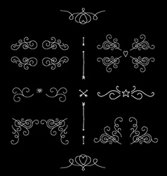 Ornate filigree borders frames design elements vector