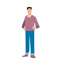 young manager in sweater and jeans vector image vector image