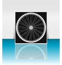 Bike wheel - flyer or cover design vector image vector image