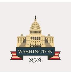 Capitol building in washington vector