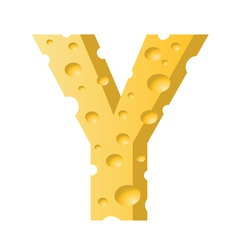 cheese letter Y vector image vector image