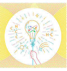 concept kid inventors vector image