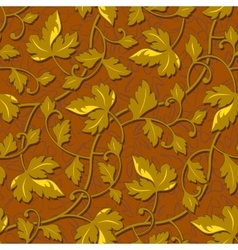 contour autumn gold leaf seamless vector image vector image
