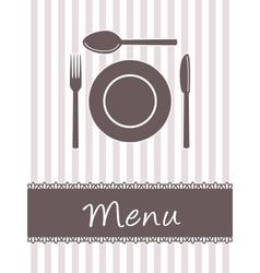 kitchen menu vector image
