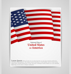 national flag brochure of united states of america vector image vector image