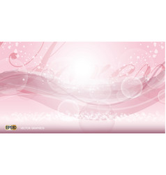 pink glamorous fragrance sparkling effects vector image