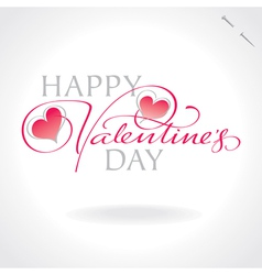 valentines hand lettering vector image vector image