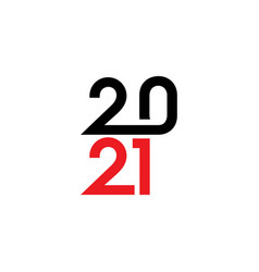 2021 new year icon vector image
