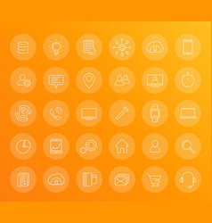 30 business commerce finance linear icons set vector image