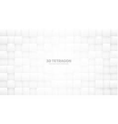 3d blocks white abstract background vector image