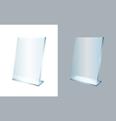 3d transparent acrylic stand for a4 paper page vector image