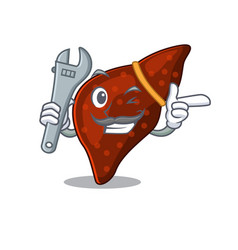 A picture human cirrhosis liver mechanic vector